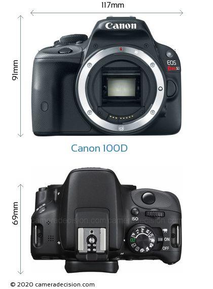 Canon 100D Body Size Dimensions