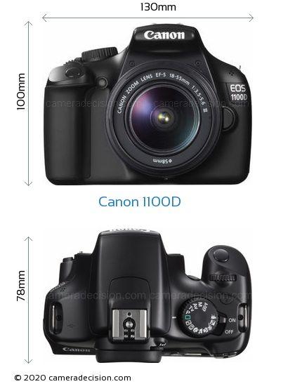 Canon 1100D Body Size Dimensions