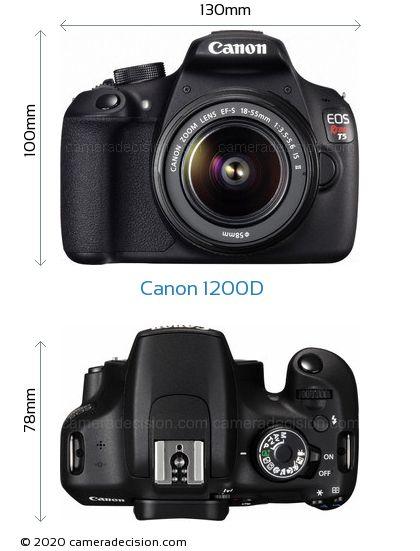 Canon 1200D Body Size Dimensions