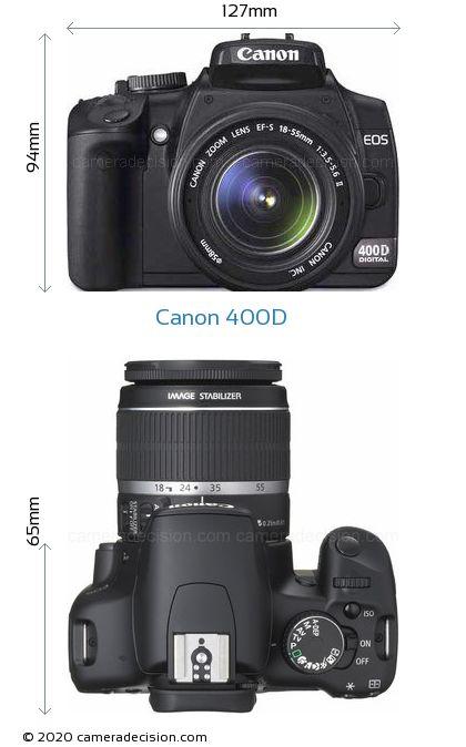 Canon 400D Body Size Dimensions