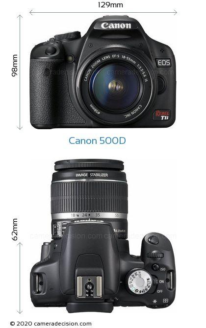 Canon 500D Body Size Dimensions