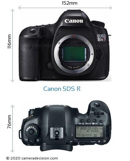 Canon 5DS R Body Size Dimensions
