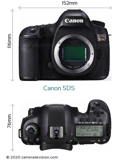Canon 5DS Body Size Dimensions