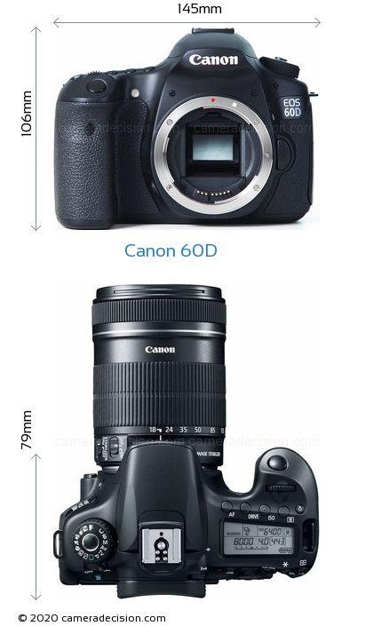 Canon 60D Body Size Dimensions