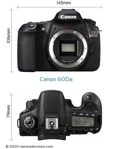 Canon 60Da Body Size Dimensions