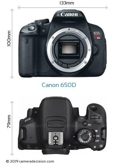 Canon 650D Body Size Dimensions