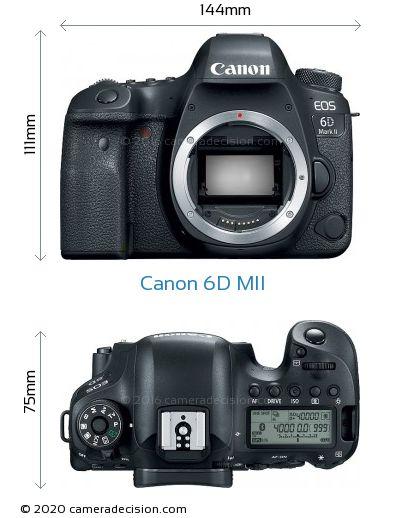 Canon 6D MII Body Size Dimensions
