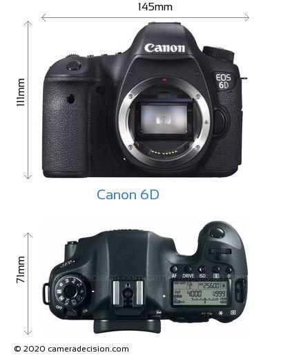 Canon 6D Body Size Dimensions