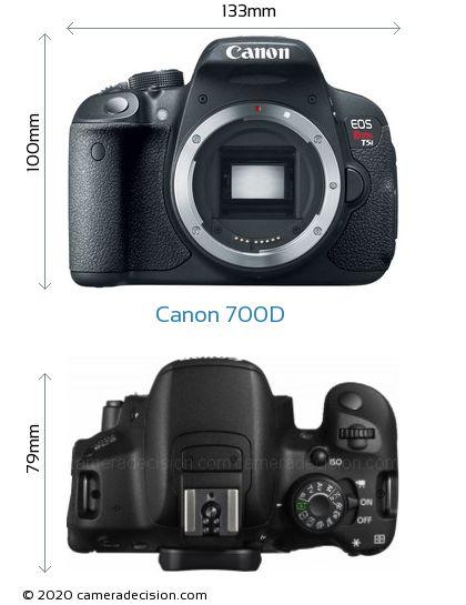 Canon 700D Body Size Dimensions