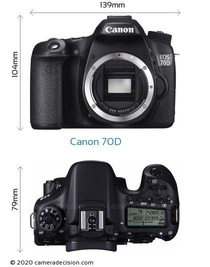 Canon 70D Body Size Dimensions