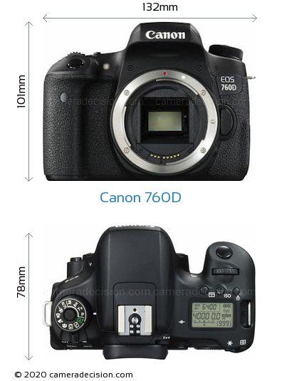 Canon 760D Body Size Dimensions
