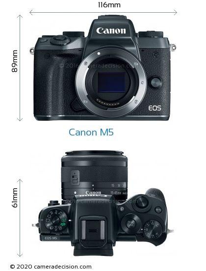 Canon M5 Body Size Dimensions