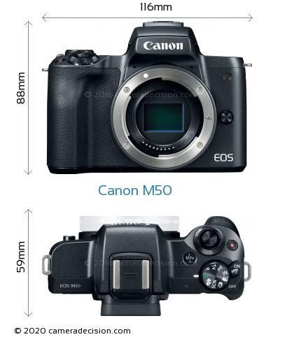 Canon M50 Body Size Dimensions