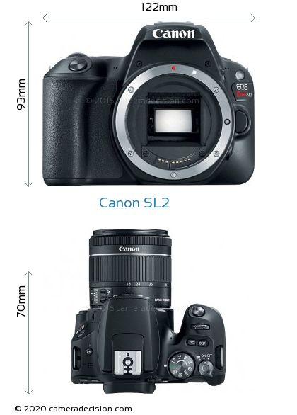 Canon SL2 Body Size Dimensions
