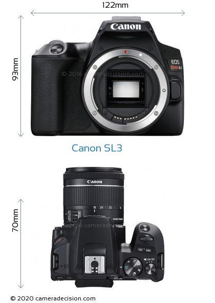 Canon SL3 Body Size Dimensions