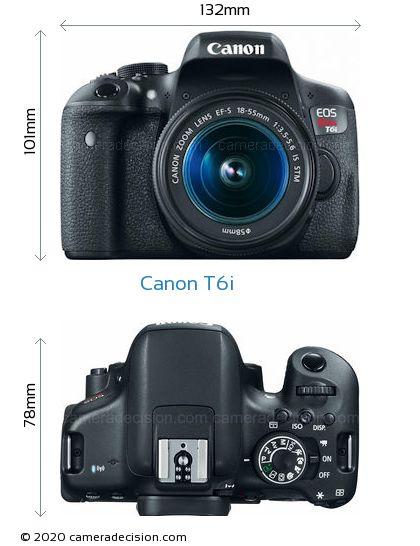 Canon T6i Body Size Dimensions