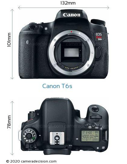 Canon T6s Body Size Dimensions