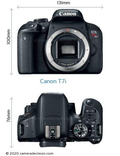 Canon T7i Body Size Dimensions