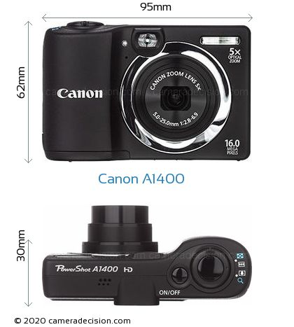 canon a1400 review and specs rh cameradecision com Canon PowerShot A1400 Cable Canon PowerShot A2300