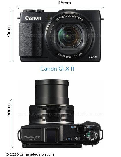 Canon G1 X MII Body Size Dimensions