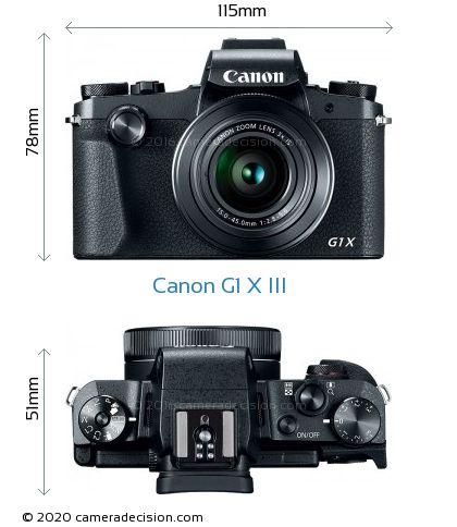 Canon G1 X III Body Size Dimensions