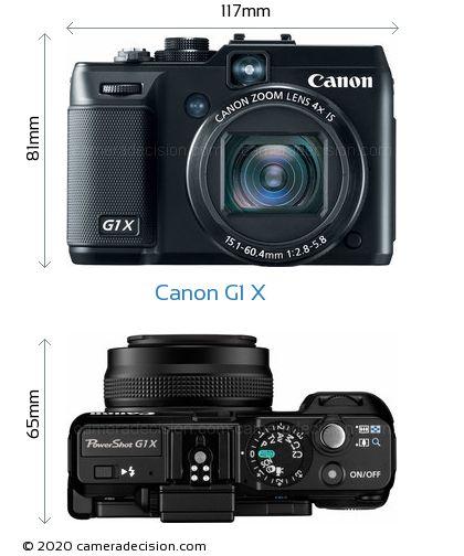 Canon G1 X Body Size Dimensions