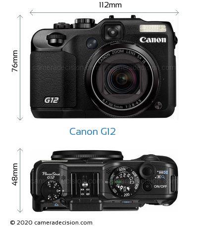 Canon G12 Body Size Dimensions