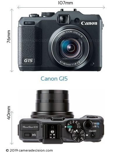 Canon G15 Body Size Dimensions