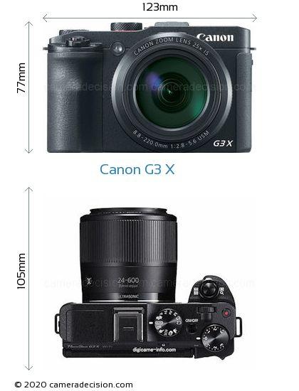 Canon G3 X Body Size Dimensions