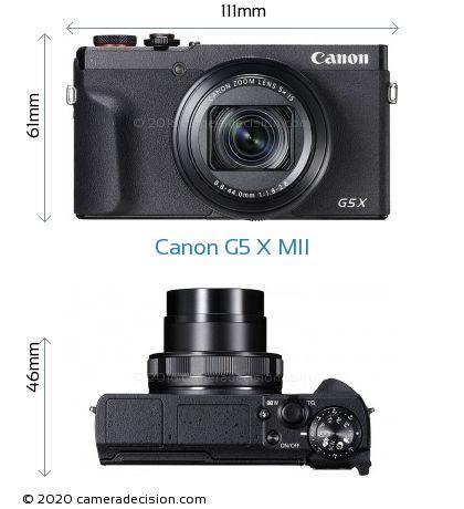Canon G5 X MII Body Size Dimensions