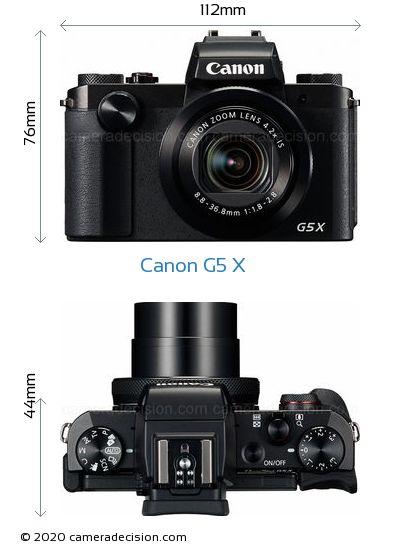 Canon G5 X Body Size Dimensions