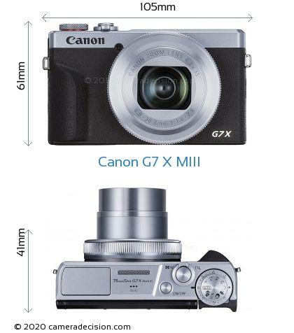 Canon G7 X MIII Body Size Dimensions
