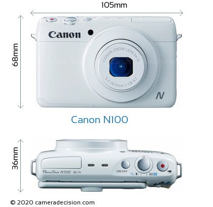 Canon N100 Body Size Dimensions