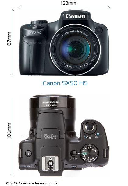 Canon SX50 HS Body Size Dimensions
