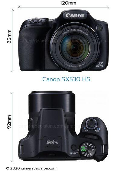Canon SX530 HS Body Size Dimensions
