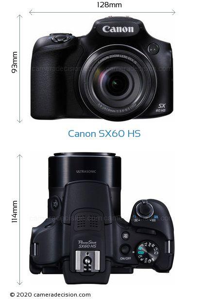 Canon SX60 HS Body Size Dimensions