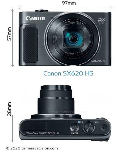 Canon SX620 HS Body Size Dimensions