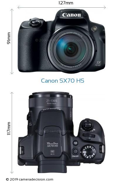 Canon SX70 HS Body Size Dimensions