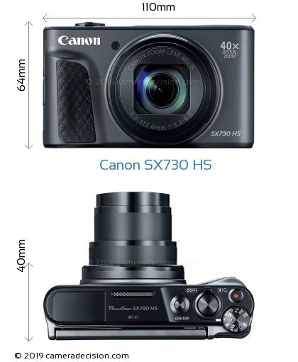 Canon SX730 HS Body Size Dimensions
