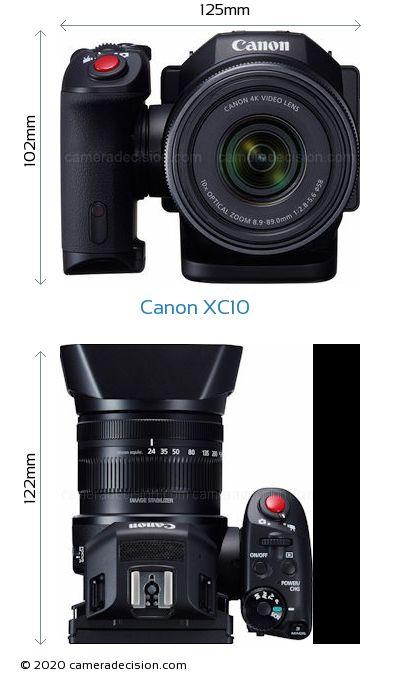 Canon XC10 Body Size Dimensions