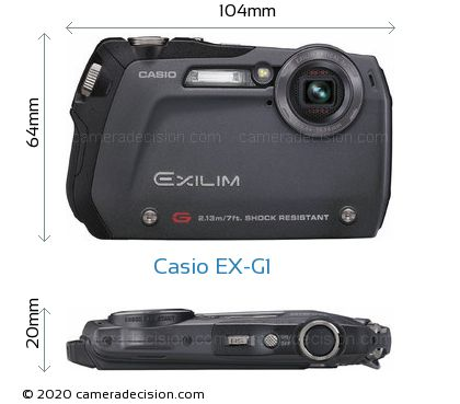Casio EX-G1 Body Size Dimensions