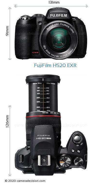 FujiFilm HS20 EXR Body Size Dimensions