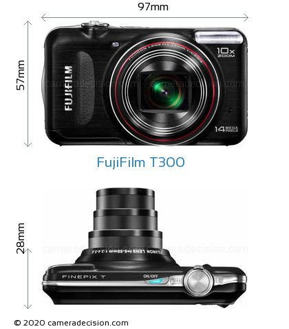 FujiFilm T300 Body Size Dimensions