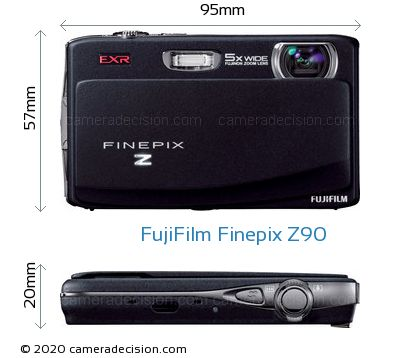 FujiFilm Finepix Z90 Body Size Dimensions