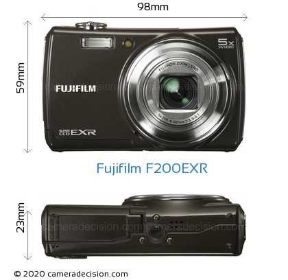 Fujifilm F200EXR Body Size Dimensions
