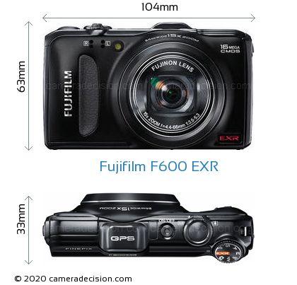 Fujifilm F600 EXR Body Size Dimensions