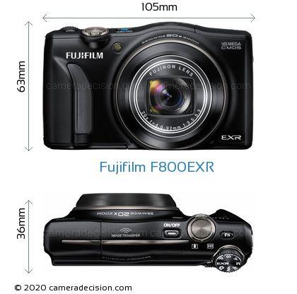 Fujifilm F800EXR Body Size Dimensions