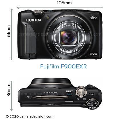 Fujifilm F900EXR Body Size Dimensions