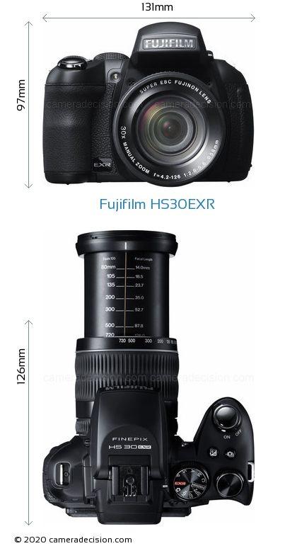 Fujifilm HS30EXR Body Size Dimensions
