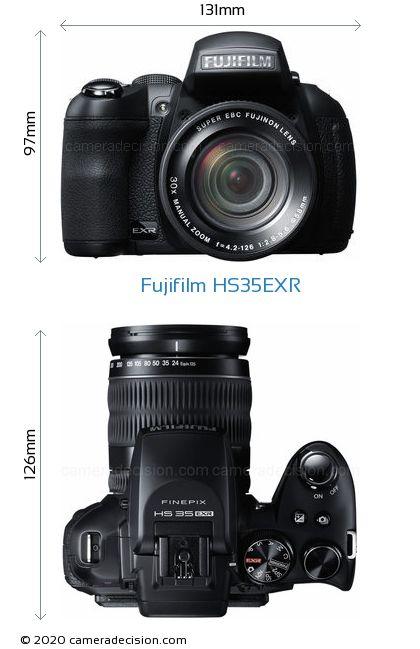 Fujifilm HS35EXR Body Size Dimensions
